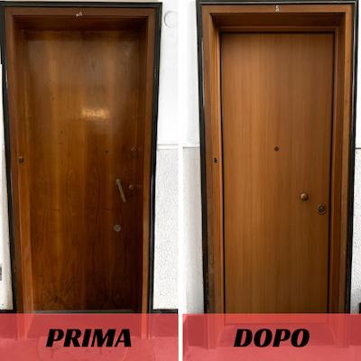 PRIMA E DOPO PORTE BLINDATE a TRIESTE